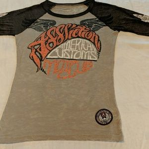 Affliction size small distressed t-shirt